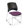 OFM Stars Series Stack Chair, Plum