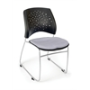 OFM Stars Series Stack Chair, Putty