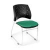 OFM Stars Series Stack Chair, Forest Green