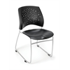 OFM Stars Series Stack Chair, Black