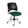 Stars Swivel Chair, Forest Green