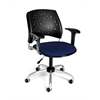 OFM Stars Swivel Chair with Arms, Charcoal