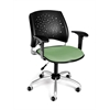 OFM Stars Swivel Chair with Arms, Sage Green