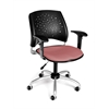 OFM Stars Swivel Chair with Arms, Coral