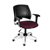 OFM Stars Swivel Chair with Arms, Burgundy