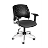 OFM Stars Swivel Chair with Arms, Graphite