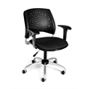 OFM Stars Swivel Chair with Arms, Black