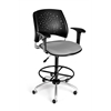 OFM Stars Swivel Stool with Arms, Putty