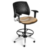 OFM Elements Stars Swivel Chair with Arms, Olympus Shoya