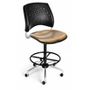 OFM Elements Stars Swivel Chair with Drafting Kit, Olympus Shoya