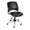 Stars Swivel Plastic Chair, Black