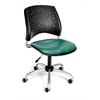 OFM Stars Swivel Vinyl Chair, Teal