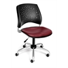 Stars Swivel Vinyl Chair, Wine