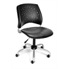 Stars Swivel Vinyl Chair, Charcoal