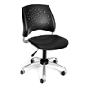 OFM Stars Swivel Vinyl Chair, Black
