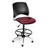 Stars Swivel Vinyl Chair with Drafting Kit, Wine