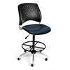 Stars Swivel Vinyl Chair with Drafting Kit, Navy