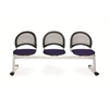 OFM Moon 3-Beam Seating with 3 Seats, Charcoal