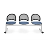Moon 3-Beam Seating with 3 Seats, Black