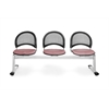 OFM Moon 3-Beam Seating with 3 Seats, Coral