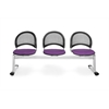 OFM Moon 3-Beam Seating with 3 Seats, Plum