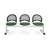 OFM Moon 3-Beam Seating with 3 Seats, Forest Green