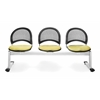 OFM Elements Moon 3-Unit Beam Seating with 3 Seats, Interplay Sprout