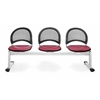 Elements Moon 3-Unit Beam Seating with 3 Seats, Tessuto Zin