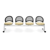 OFM Moon 4-Beam Seating with 4 Seats, Golden Flax
