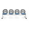 OFM Moon 4-Beam Seating with 4 Seats, Black