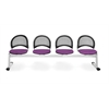 OFM Moon 4-Beam Seating with 4 Seats, Plum