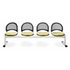 OFM Elements Moon 4-Unit Beam Seating with 4 Seats, Interplay Sprout