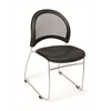 OFM Moon Stack Vinyl Chair, Black