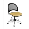 Moon Swivel Chair, Golden Flax