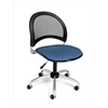 Moon Swivel Chair, Cornflower Blue