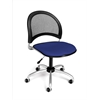 Moon Swivel Chair, Royal Blue