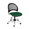 Moon Swivel Chair, Forest Green