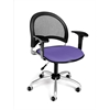 Moon Swivel Chair with Arms, Blue