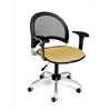 Moon Swivel Chair with Arms, Golden Flax