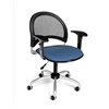 OFM Moon Swivel Chair with Arms, Cornflower Blue