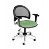 Moon Swivel Chair with Arms, Sage Green
