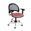 Moon Swivel Chair with Arms, Coral