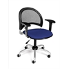 OFM Moon Swivel Chair with Arms, Royal Blue