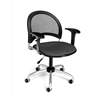 OFM Moon Swivel Chair with Arms, Graphite