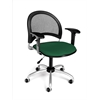 Moon Swivel Chair with Arms, Forest Green