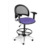 OFM Moon Swivel Stool with Arms, Blue