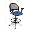 Moon Swivel Stool with Arms, Cornflower Blue