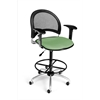 Moon Swivel Stool with Arms, Sage Green