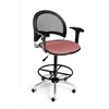 Moon Swivel Stool with Arms, Coral