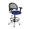 OFM Moon Swivel Stool with Arms, Royal Blue